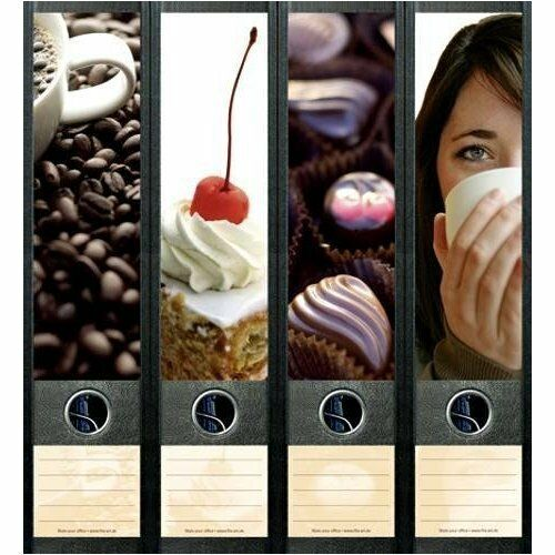 File Art 4 Design Ordner-Etiketten Coffee and Sweets.........................421