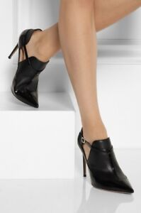 361e614d0fb Image is loading Authentic-Valentino-Black-Patent-Matte-Leather-Pointed-Toe-