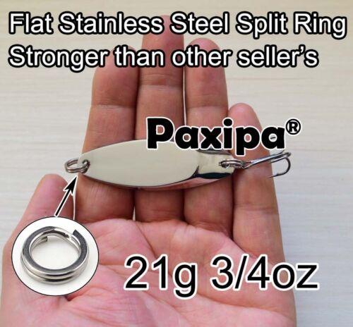 Lot 10x Fishing Slice Lures Metal Slug Spoons Fishing Silver Hard Bait Spinnners
