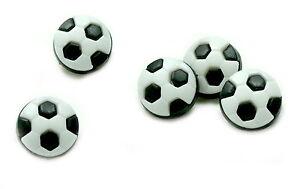 10 50 Fussball Knopfe Fur Kinder 13mm Selbst Gestallten