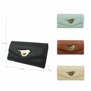 Womens-Designer-Style-Purse-Clasp-Close-Wallet-Girls-PU-Coin-Holder-Bird-Design