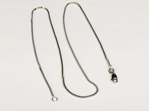 "14k White Gold 16/"" MILANO Snake Pendant Chain Necklace   1.8 gram 1.1 MM WMIL010"