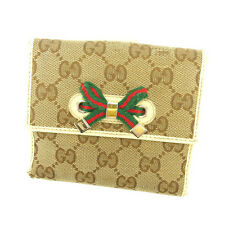 Auth Gucci W Hook Wallet GG Canvas Women''s used Q247