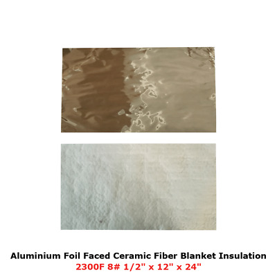 1//2 Aluminium Foil Faced Ceramic Fiber Blanket Insulation 6# 2300F 24 X 36