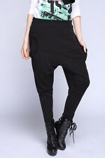 New Women Stylish  Baggy Harem Hippie Hip-hop Black Harem Pants