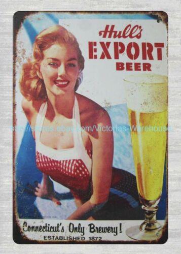 Hull/'s Export Beer tavern pub metal tin sign man cave garage