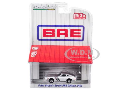 DATSUN 240Z PETER BROCK'S STREET BRE WHITE/ SILVER 1/64 DIECAST GREENLIGHT 51157