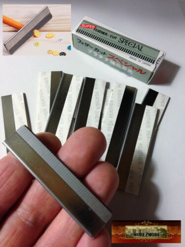 M01030x10 MOREZMORE 100 Super Thin Polymer Clay Cane Blades Razors Slicers DWS