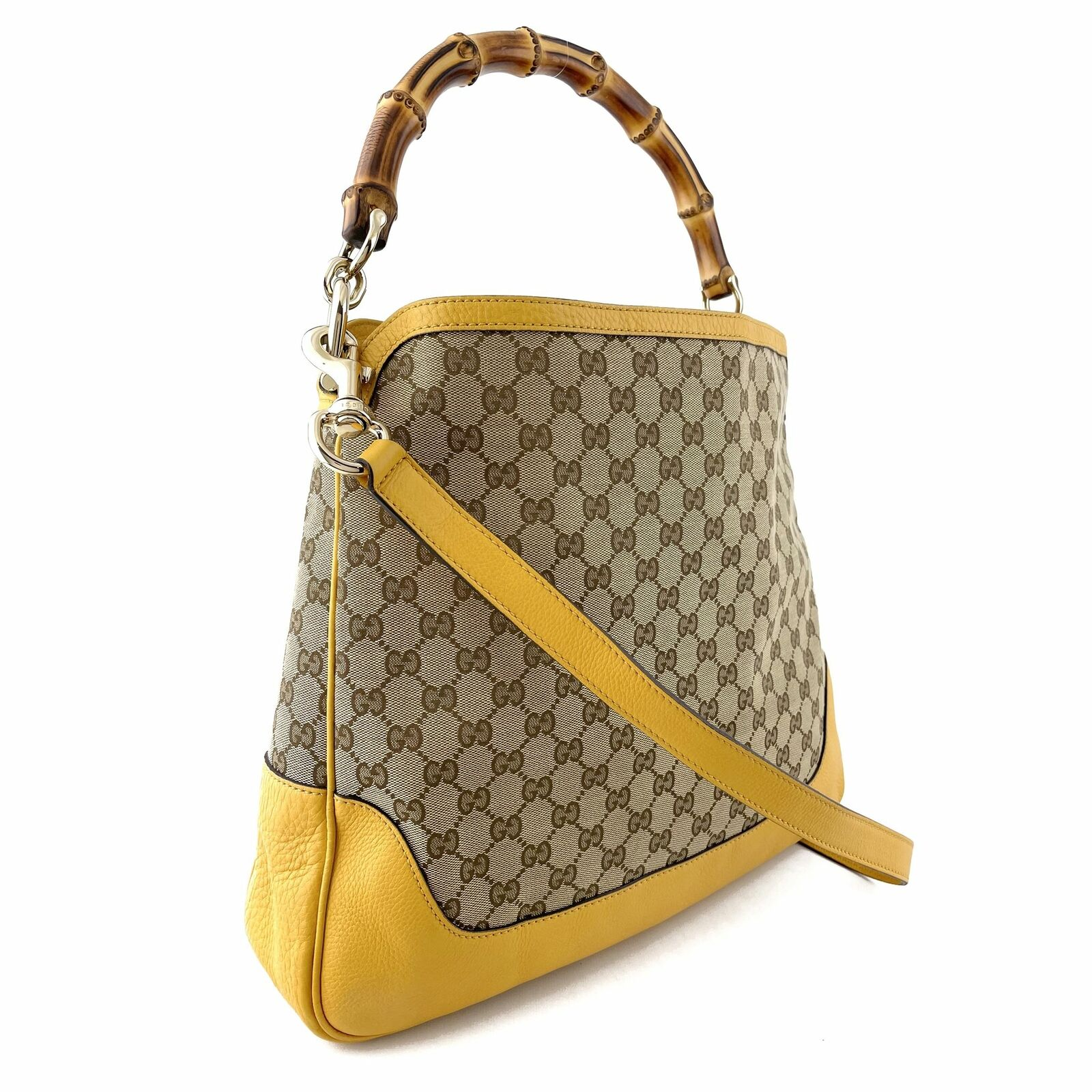 Gucci GG Canvas Diana Bamboo Shoulder Bag - Beige… - image 2