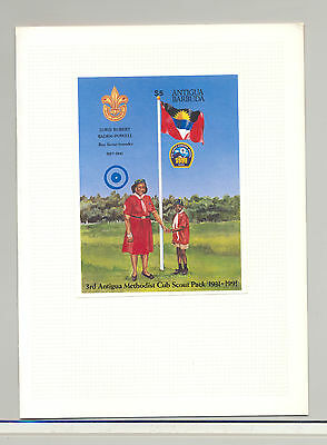 Antigua & Barbuda (1981-now) Flags 1v S/s Imperf Proof Mounted In Folder In Many Styles Antigua #1492 Scouts
