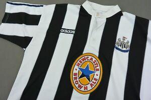 1995-97 adidas Newcastle United Home Shirt No. 9 FERDINAND ...