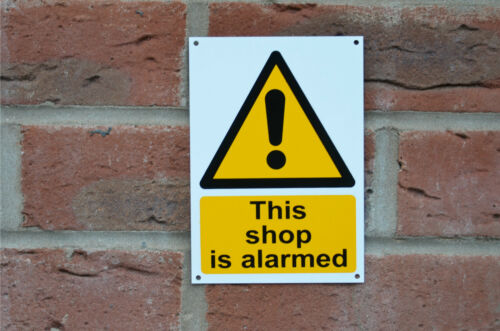 This Shop Is Alarmed Security Safety Sticker Window Sticker Or Plastic Sign A6
