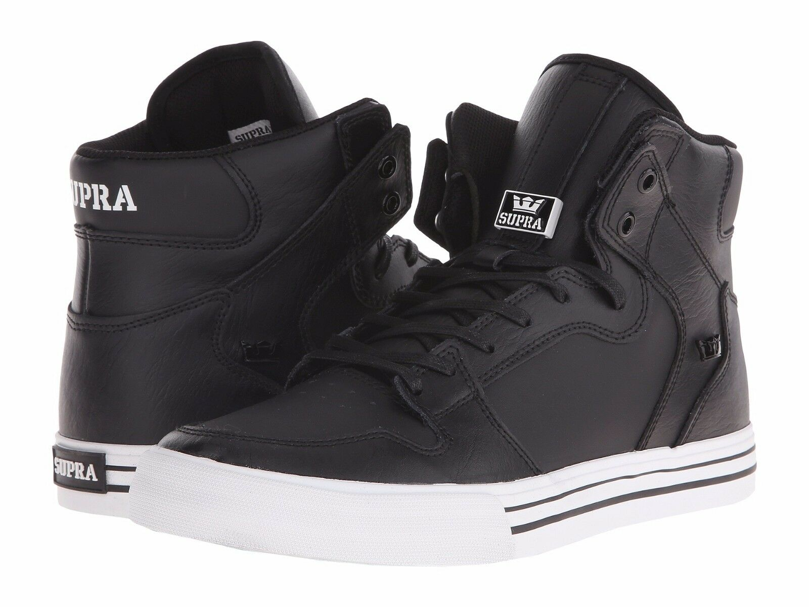 NEW SUPRA VAIDER HIP BLACK WEISS LEATHER 08208-002 HIP VAIDER HOP SKATEBOARDING Schuhe 12 474077