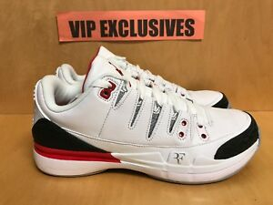 Nike Air Jordan 3 Retro Zoom Vapor Roger Federer AJ3 RF Fire Red ... 37f8009f5