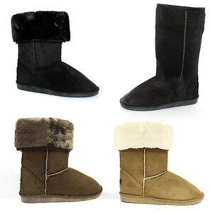 Per-Ragazze-Donne-Soft-Winter-Stivaletti-Pelliccia-Sintetica-Stivali-Da-Donna-Pantofole-Dimensione