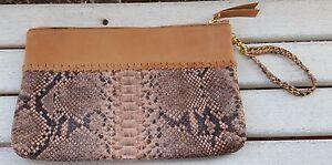 Echte Python Wallet Clutch Geldbrse Haut Handtasche fz4xcgnz