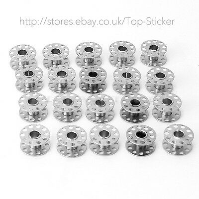 20pcs Metal Stainless Sewing Machine Bobbins For BROTHER TOYOTA JANOME SINGER GB