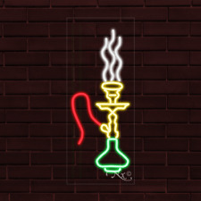 Brand New Hookah Logo Vertical 32x13x1 Inch Led Flex Indoor Sign 31236