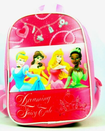 Disney Backpack Dreaming Princess Pink Bag Kids Girls Fairy Tail Princess New