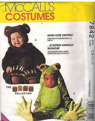 7842 Uncut Mccalls Sewing Pattern Tom Arma Halloween Costume Frog Bear