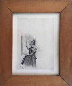 Henri-BOUTET-1851-1919-Elegante-au-musee-Eau-forte-pointe-seche-SBG-21x16