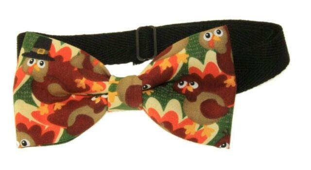 Turkeys Pre-Tied Adjustable Cotton Bow Tie | Turkey Bow Tie