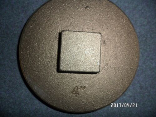 4 In Brass Clean Out Plug Raised Square Head Oatey 423743 Threaded Clean out