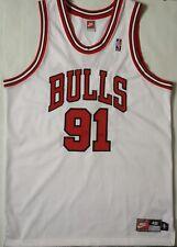 Vintage Dennis Rodman Chicago Bulls Nike White Tag Jersey Size 48