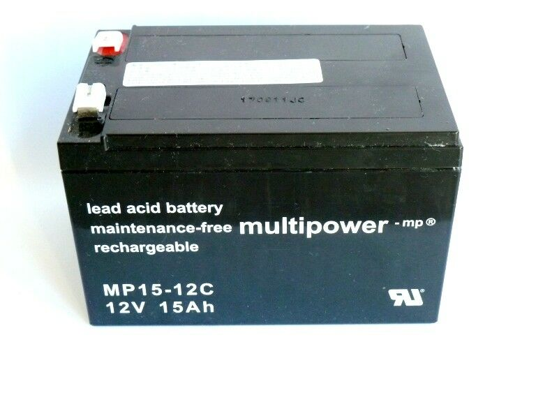 3 x Multipower MP15-12C  12V 15Ah  Blei Akku  Zyklenfest