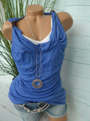893 34 bis 50 Blau weiß 2 in 1 Effekt NEU Boysens Shirt Damen Tunika Gr
