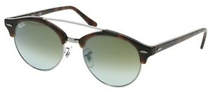 b0eab8c8f17 Image is loading RAY-BAN-CLUBROUND-DOUBLE-BRIDGE-TORT-GREEN-GRADIENT-