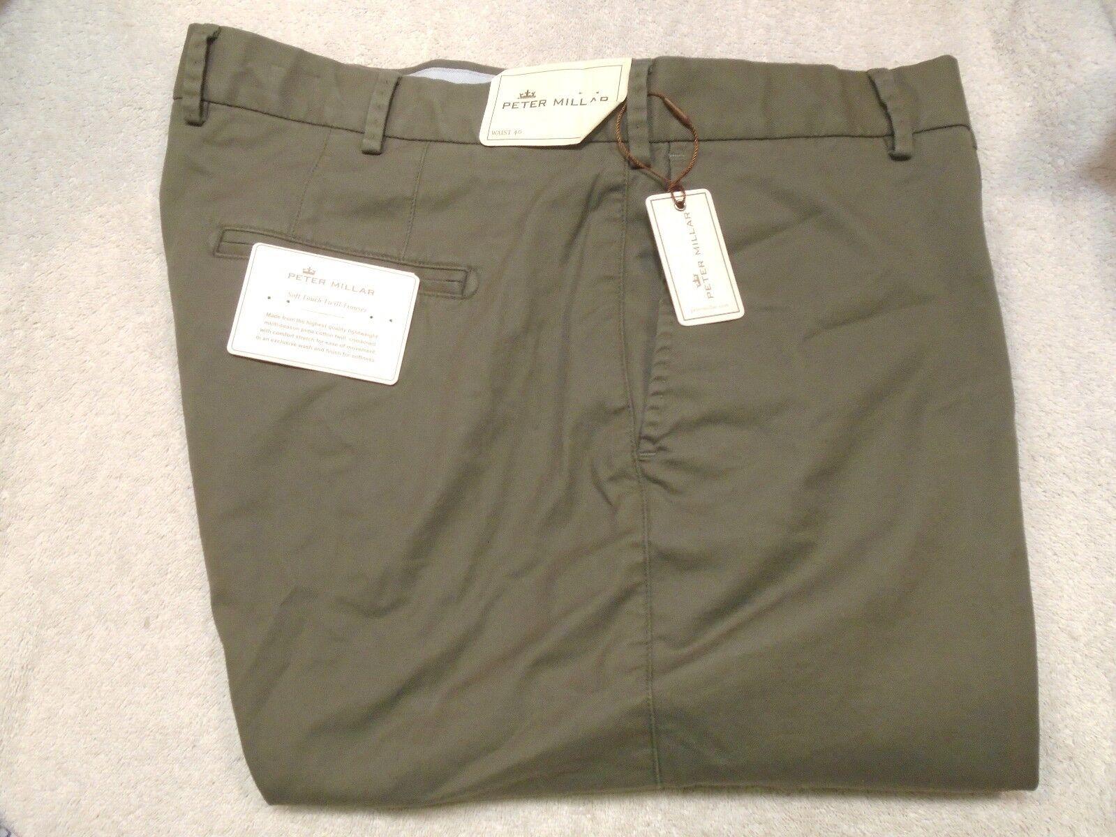 Peter Millar Soft Touch Twill Pima Cotton Khaki Pants NWT  40 x 36 Granite