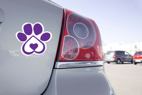 "Pet Paw Print Auto Magnet Heart-Shaped DOG PAW PRINT Car Magnet 6/"""
