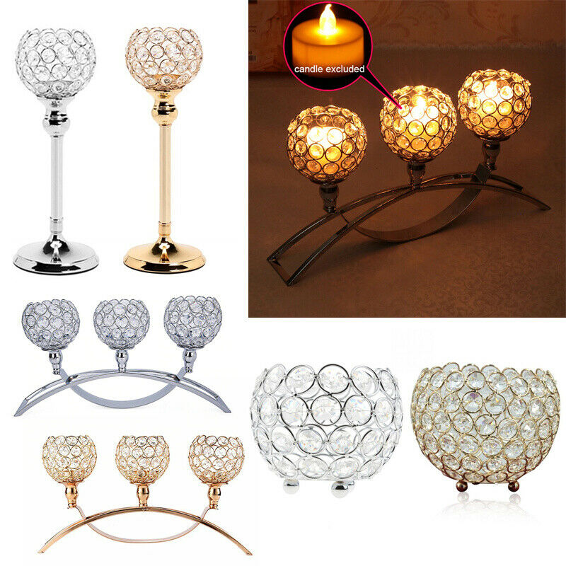 Teelichthalter Kristall Teelichter Kerzenständer Kerze Windlicht Winlichthalter