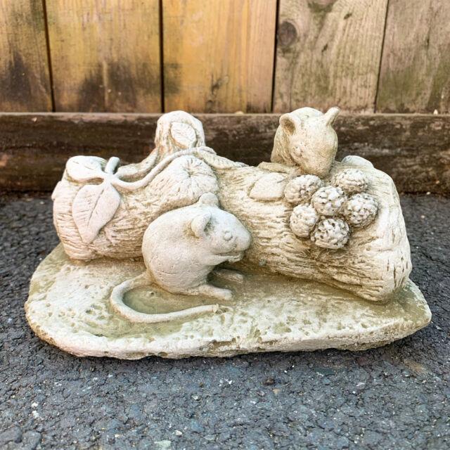 Sleeping Stone Pussy Cat Outdoor Garden Statues Ornament  Sculpture