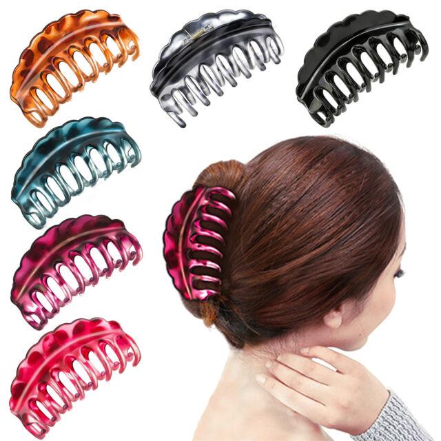 Women Hair Plastic Claws Clamp Clips Hairpin Banana Grips Slides Accessories Fei
