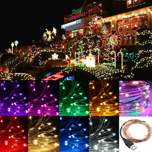 2-5-10M-20-100-LED-String-Copper-Wire-Fairy-Lights-USB-Xmas-Party-Fairy-Decor