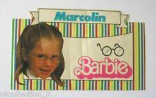 VECCHIO ADESIVO ORIGINALE / Old Sticker Autocollant BARBIE MARCOLIN (cm 13 x 8)