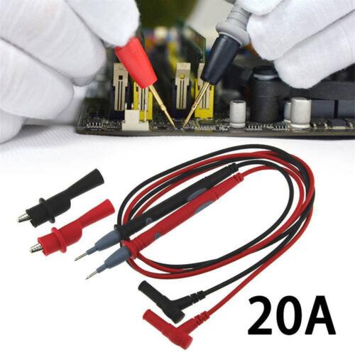 Multi Meter Multimeter Digital Test Lead Probe Wire Pen Cable W// Alligator Clip