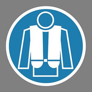 Rettungsweste-benutzen-Aufkleber-Sticker-Schild-Hinweis-Verbotsschild