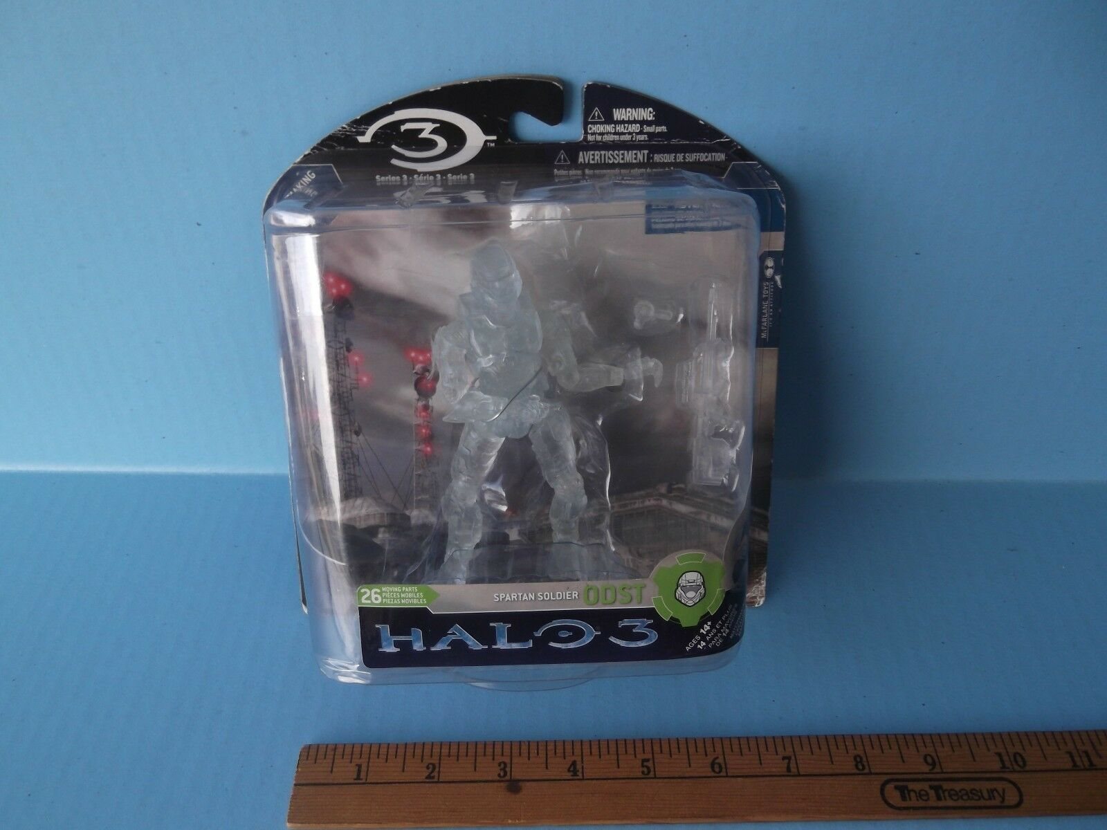 Halo 3 Series 3 Spartan Soldier ODST 6 in Posable Action Figure clear variant