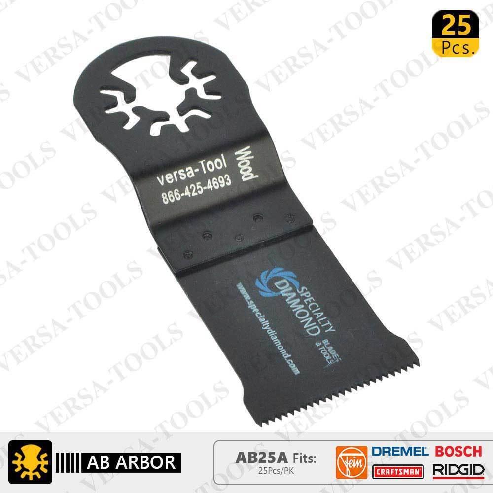 AB25A 35mm HCS Multi-Tool Saw Blades 25 Pk Fits Fein Multimaster, Dremel, Bosch