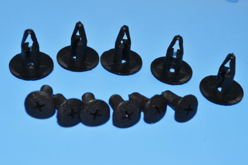 10 X Chrysler Negro ajuste plástico Retenedor Clips Fix parachoques Fender