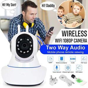 1080P HD Wireless Wifi IP Camera IR Security Webcam Baby Monitor CAM Pan Tilt UK 6068858070969