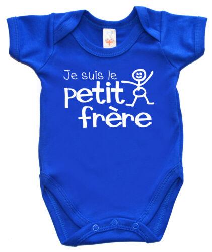 "Baby Bruder Body /"" Je Suis Le Petit Frere /"" Französisch Kleiner Neu Strampler"