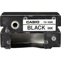 Casio Tr-18bk Black Thermal Ink Ribbon Tr18bk For Cw50, Cw75, Cw100, E60, K85