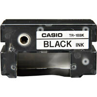 Casio Tr-18bk Black Thermal Ink Ribbon Tr18bk For Cw50, Cw75, Cw100, E60, K85