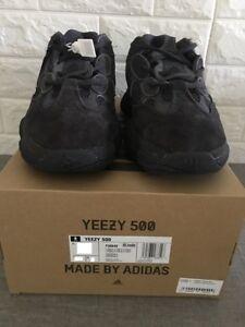 01af7e474f6 Adidas Yeezy 500 Utility Black Size 5 F36640 Kanye West Boost