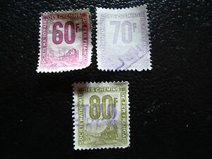 FRANCE-timbre-yvert-et-tellier-colis-postaux-n-16-18-19-obl-A14-stamp-french