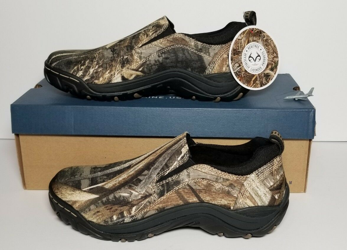 G H BASS GARFIELD MEN SIZE 8.5 SLIP-ONS REALTREE MAX5 NEW  BOX 0103-2147-309